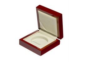 Drewniane pudełko na monetę 20 zł (38,61mm + kapsel)