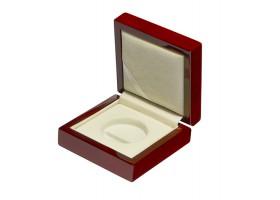Drewniane pudełko na monetę 10 zł (32mm + kapsel)
