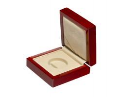 Drewniane pudełko monetę 2 zł (27mm + kapsel)