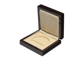 Drewniane pudełko na monetę 50 mm (50mm + kapsel)